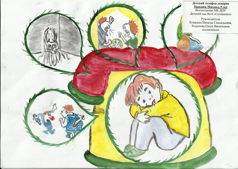 Конкурс детских рисунков телефону доверия